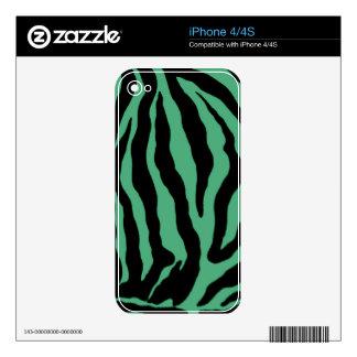 Teal Green Tiger Striped Skins
