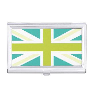Teal & Green UK Flag Business Card Holder