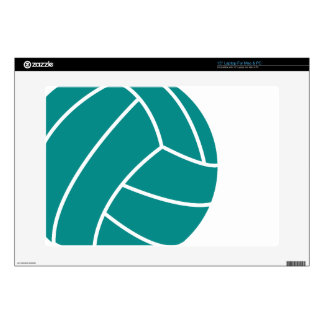 """Teal Green Volleyball Decal For 15"""" Laptop"""