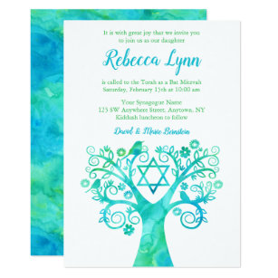 Bat Mitzvah Invitations 5400 Bat Mitzvah Announcements Invites