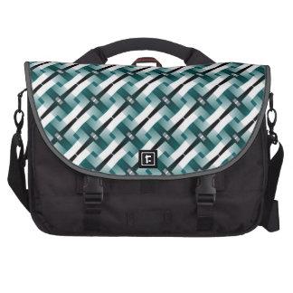 Teal Green Weave Textile Pattern Laptop Bag