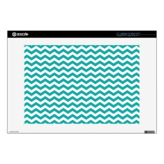 """Teal Green White Chevron Zigzag Decal For 13"""" Laptop"""