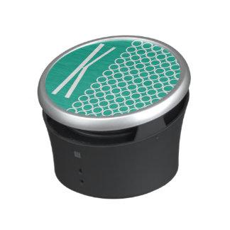 Teal Green & White Retro Circles Speaker