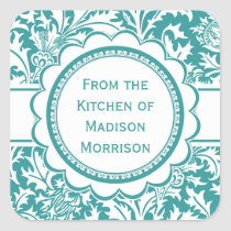 Teal Green William Morris Canning Jar Labels