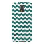 Teal Green Zig Zag Design Pattern Galaxy S5 Case