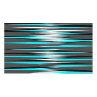 Teal, Grey, White, & Black Stripes Business Card