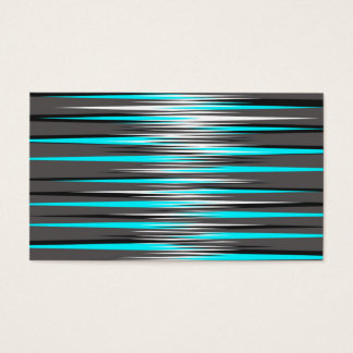 Teal, Grey, White, & Black Stripes Business Card