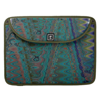 Teal Groovy Zigzag Rickshaw Macbook Pro Flap Sleev Sleeve For MacBooks