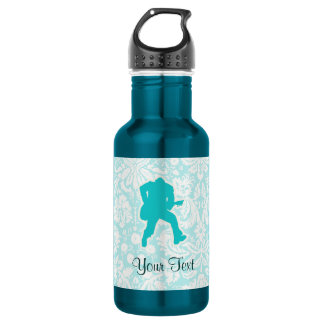 Teal Guitarist Stainless Steel Water Bottle