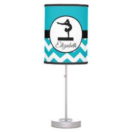 Teal Gymnast Silhouette Lamp