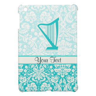 Teal Harp iPad Mini Cover