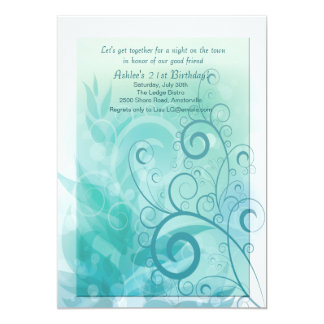 Teal Haze Invitation
