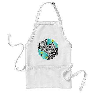 Teal heart adult apron