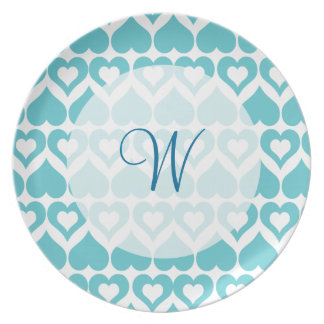 Teal Heart Elegant Kitchen Gifts Plates