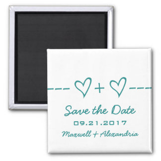 Teal Heart Equation Save the Date Magnet