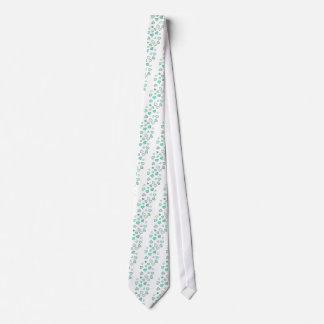 Teal Heart Pattern Neck Tie