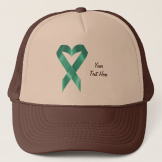 Teal Heart Ribbon (customizable) Trucker Hat