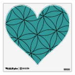Teal Heart Wall Decals
