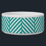 "Teal Herringbone Bowl<br><div class=""desc"">Teal Herringbone</div>"