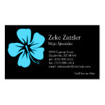 Teal Hibiscus Double-Sided Standard Business Cards (Pack Of 100)