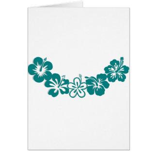 Teal Hibiscus Lei Hawaii Souvenirs Card