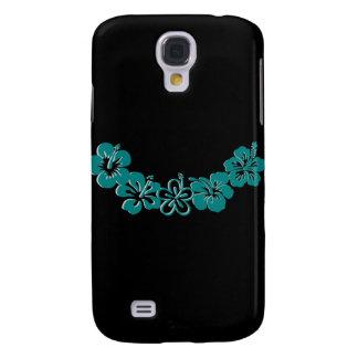 Teal Hibiscus Lei Hawaii Souvenirs Samsung Galaxy S4 Case