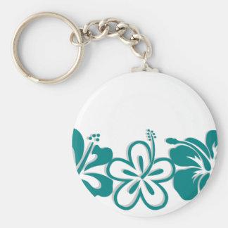 Teal Hibiscus Lei Hawaii Souvenirs Key Chains