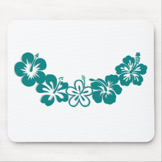Teal Hibiscus Lei Hawaii Souvenirs Mouse Pad