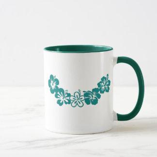 Teal Hibiscus Lei Hawaii Souvenirs Mug