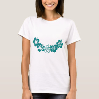 Teal Hibiscus Lei Hawaii Souvenirs T-Shirt