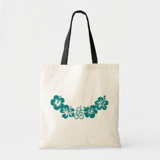 Teal Hibiscus Lei Hawaii Souvenirs Tote Bag