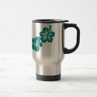 Teal Hibiscus Lei Hawaii Souvenirs Travel Mug