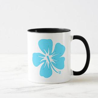 Teal Hibiscus Mug