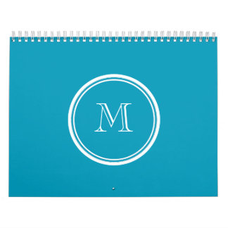 Teal High End Colored Personalized Calendar
