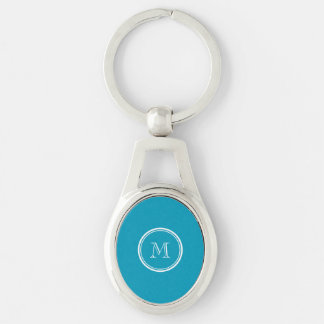 Teal High End Colored Personalized Keychain
