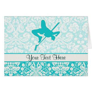 Teal High Jump Card