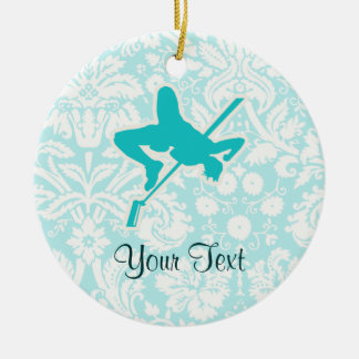 Teal High Jump Ceramic Ornament