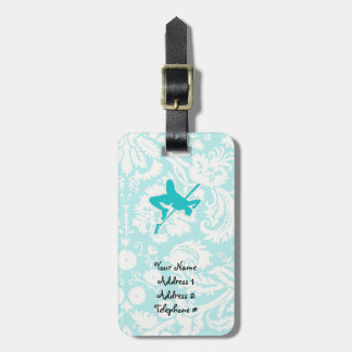 Teal High Jump Tag For Luggage