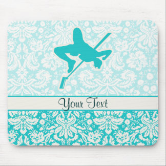 Teal High Jump Mouse Pad