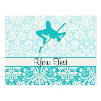 Teal High Jump Postcard
