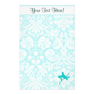 Teal High Jump Stationery Paper