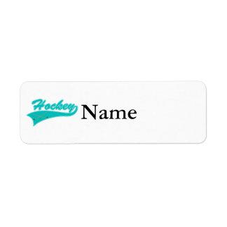 Teal Hockey Logo Return Address Label
