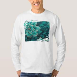 Teal Holiday Poinsettia Gifts & Collectibles T-Shirt