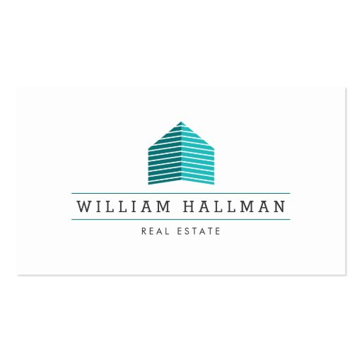 Teal Home Logo Builder Real Estate Business Card