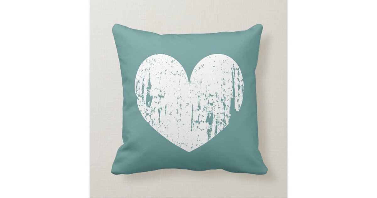 Home Sweet Home Vintage teal 'home sweet home' vintage heart throw pillow | zazzle