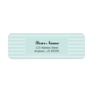 Teal Horizontal Stripes Address Label