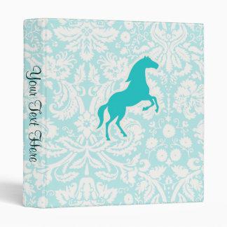 Teal Horse Vinyl Binder
