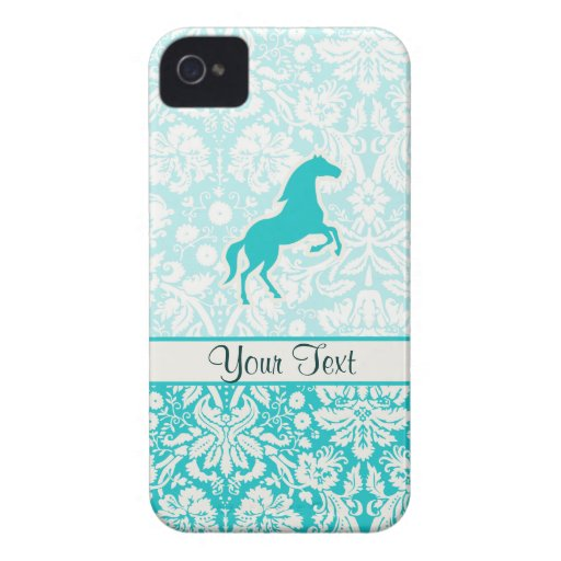 Teal Horse iPhone 4 Case