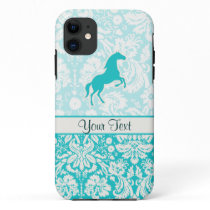 Teal Horse iPhone 11 Case