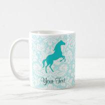 Teal Horse Coffee Mug